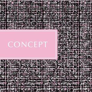 画像1: キャンディーツイード転写紙 ブラック地×ピンク