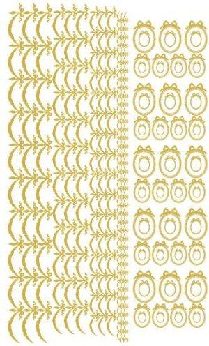 画像3: ロングリボンフレーム&リボンガーランド転写紙 メタリックゴールド